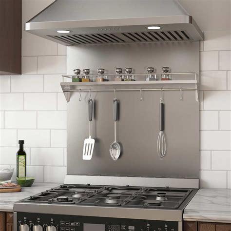 ancona stainless steel backsplash  shelf  rack