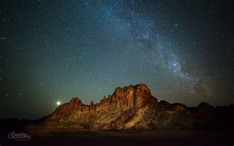 Milky Way Above Rainbow Valley Australian Geographic