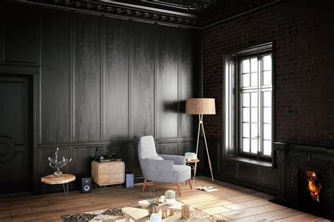 livingroom in 30 black living room ideas forced me to rethink this design