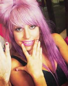 Lady Gaga Pink Hair