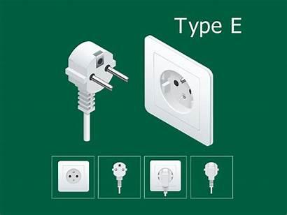 Plug Electrical Socket French Jenis Kontak Stop