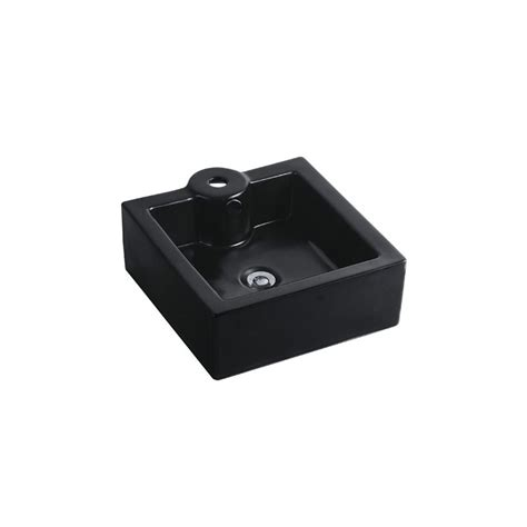 Kingston Brass Faucets Made In China by Kingston Brass Ev4186k Black Fortress 16 1 8 Quot Square