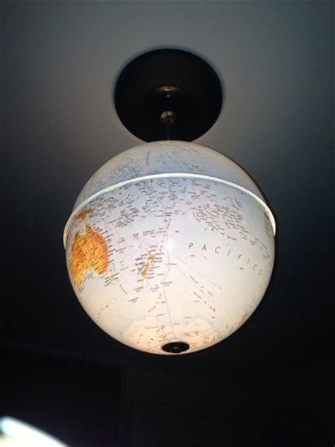upcycled world globe easy diy pendant lights