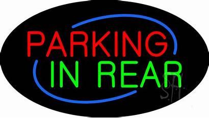 Parking Neon Rear Flashing Signs
