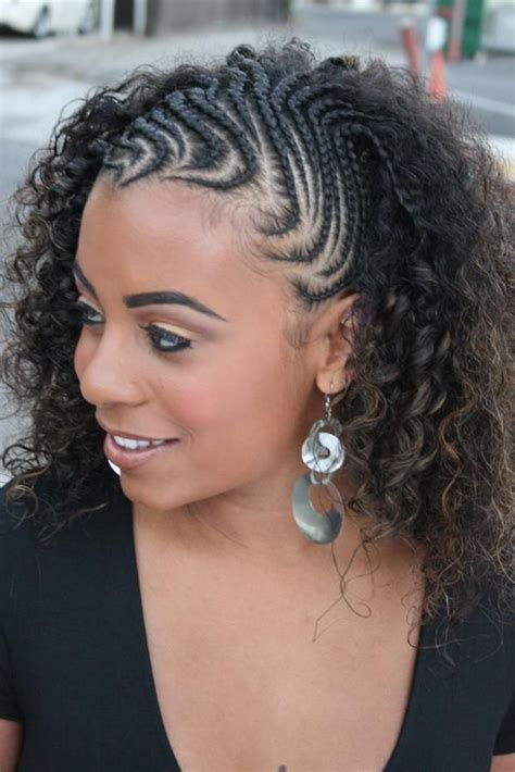 Cornrows And Curls Hairstyles by Half Cornrows To Twist Out Cornrow Braids