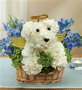 dog and animal flower arrangements