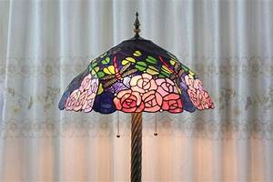 pink roses dragonfly tiffany floor lamp for bedroom With pink rose floor lamp