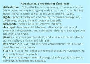 Gemstones and Their Meanings Charts
