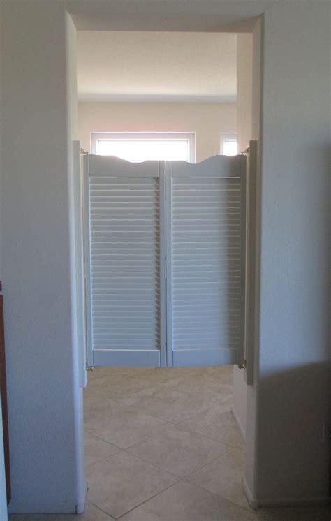 white cafe doors saloon door louvered fits   door