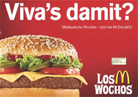"""""""viva's Damit?""""  Wieder """"los Wochos"""" Bei Mcdonald's"""