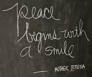 Simple Peace Qu... Peace And Smile Quotes