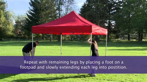 setup  instant canopy pop  tent youtube