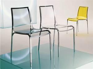 Chaise En Verre : chaise en verre acrylique yoga by bontempi casa design daniele molteni ~ Teatrodelosmanantiales.com Idées de Décoration