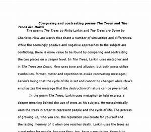 value of trees essay