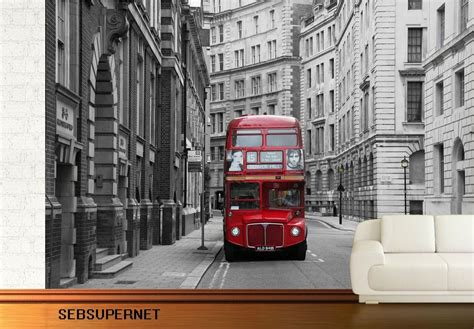 bus stop london wall mural photo wallpaper ebay