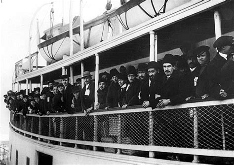 Immigrant Boat by Immigrants Arriving At Ellis Island