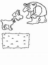 Billy Gruff Goats Coloring Troll Three Felt Goat Colour Clipart Clip Library Popular Cross sketch template