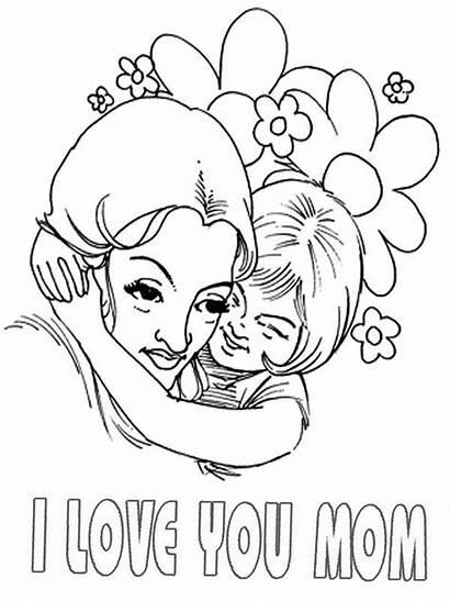 Coloring Hug Moms