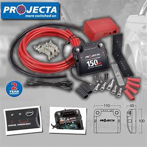Projecta Dbc150k 150 Amp Car Electronic Dual Battery