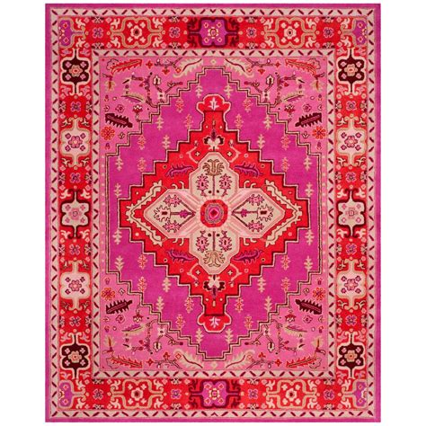 pink area rug 8x10 safavieh bellagio pink 8 ft x 10 ft area rug blg545b