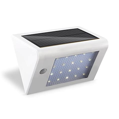 deckey solar powered wall light bright 20 led motion