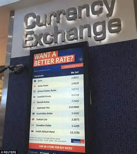 stansted bureau de change pounds slide continues as city airport now shows 1 1