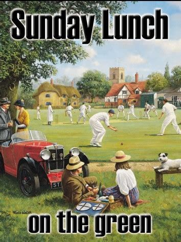 Cricket on the Village Green Metal Wall Sign 2 sizes