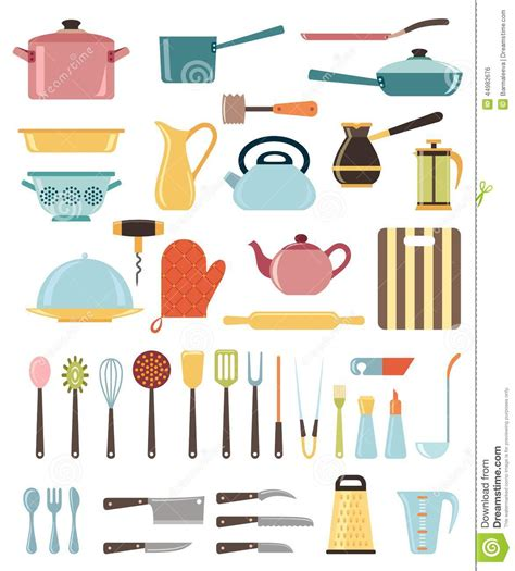 set  kitchen utensil  collection  cookware stock