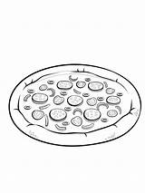 Pizza Pepperoni Coloring Chef Pages Kok Total Nice sketch template