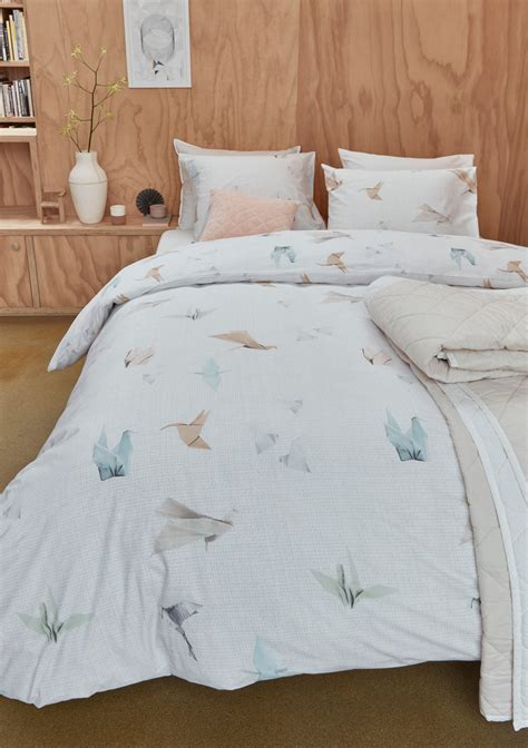 Bedding House  Origami Birds Cotton Quilt Cover Set