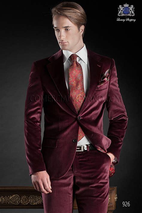 italienisch massgeschneiderte roten anzug stil  ottavio