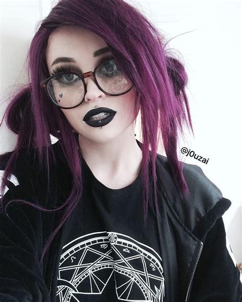 pin  laura fart  hair   emo hair goth hair
