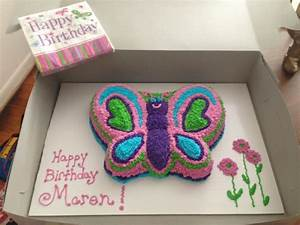 butterfly birthday cake template printable - wilton butterfly cake pan colors to match party decor