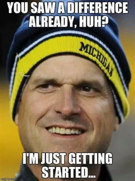 University Of Michigan Memes - 142 best jim harbaugh football coach images on pinterest go blue michigan wolverines and