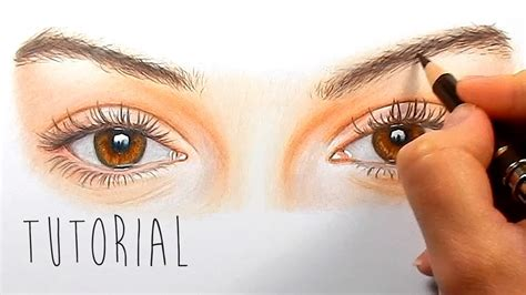 tutorial   draw color realistic eyes  colored