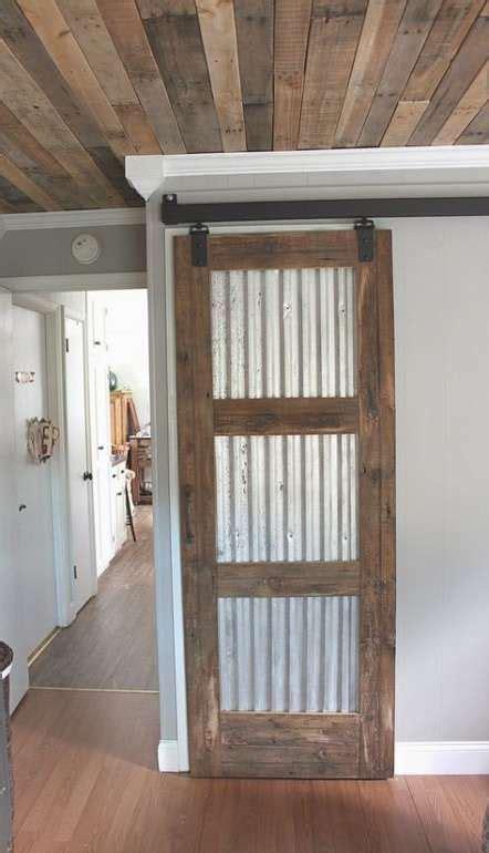 bath room wood ceiling corrugated metal  ideas barn