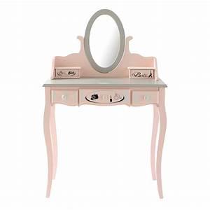Coiffeuse en bois rose L 82 cm Paris mode Maisons du Monde