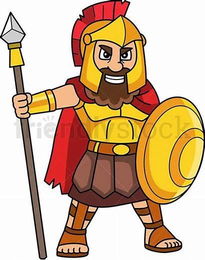 Ares Greek God Cartoon Clipart Goddess Vector
