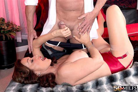Rachel Steele In Pink Lingerie And Garters 50 Plus Milf