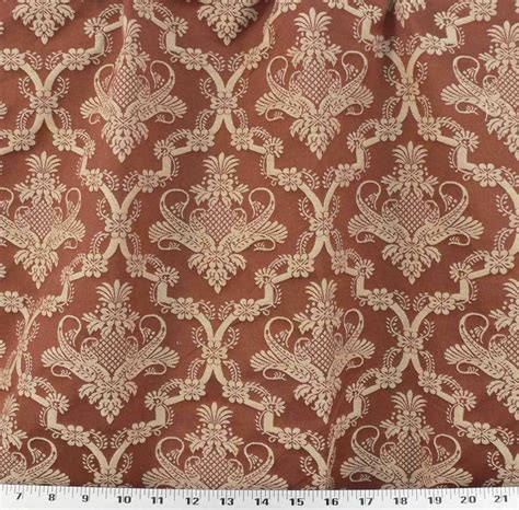 Jacquard Upholstery by Drapery Upholstery Fabric Woven Jacquard Medallion Rust