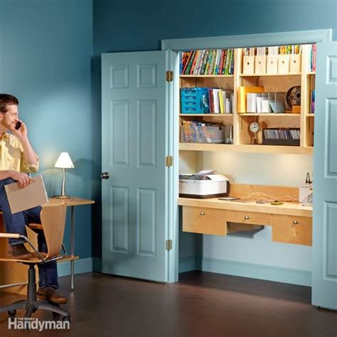 how to turn a closet into an office the family handyman