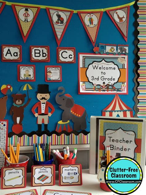 circus  carnival themed classroom clutter  classroom