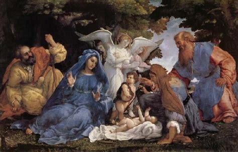 L'adoration De L'enfant Jesus Avec La Vierge Marie Et