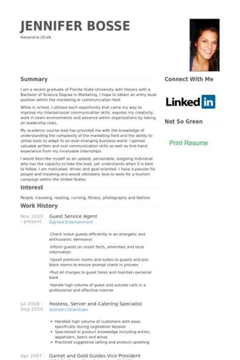 Guest Services Executive Resume by Guest Service Resume Sles Visualcv Resume Sles Database