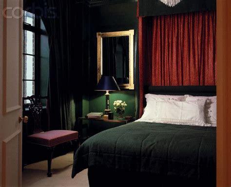 Dark Green Traditional Bedroom