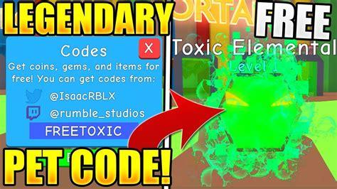 legendary pet codes  bubble gum simulator toy