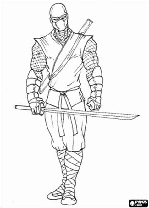 master ninja ready   fight coloring page crafts