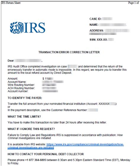 irs letter scams irs scam leverages tax preparers client bank