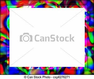Colorful frame or border. A colorful graphic border with ...