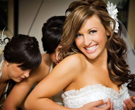 Wedding Hairstyles Half Up Half Down : Half Up Half Down Wedding Hairstyle For Medium Length Hair